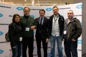 Neil Grant (2nd left) at Crestron Integration Awards 2016